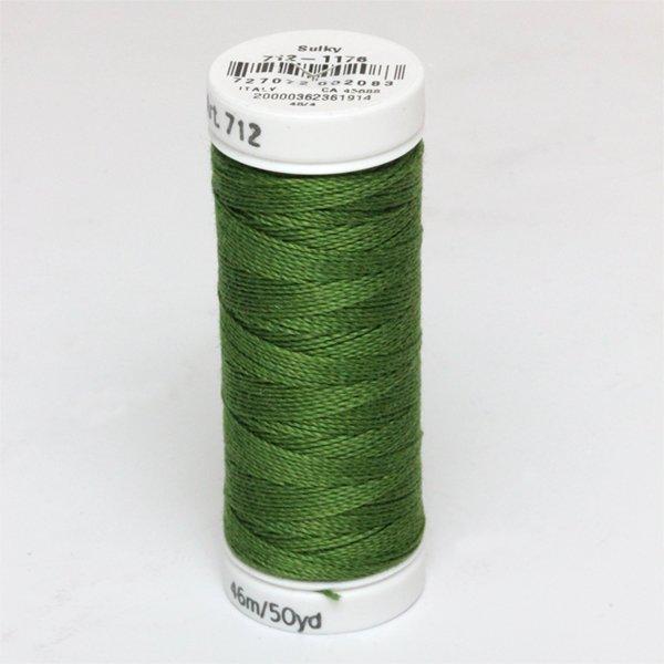 Sulky 12 Wt. Cotton Petites -Med. Dark Avocado - 50 yd. Spool col.1176