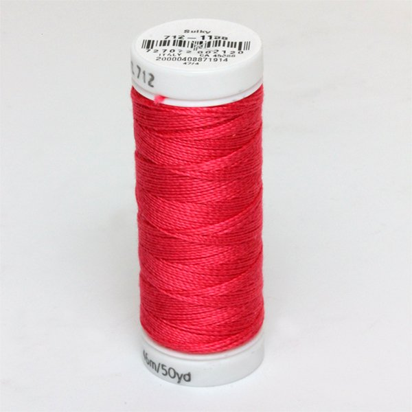 Sulky 12 Wt. Cotton Petites -Red Geranium Spool #712-1188