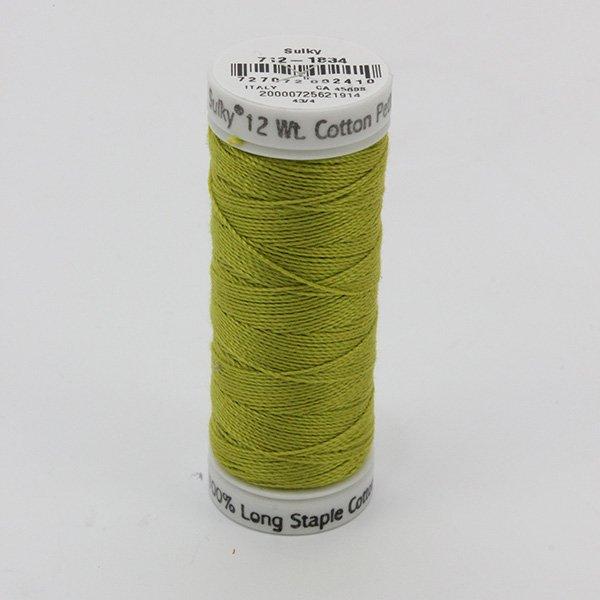 Sulky 12 Wt. Cotton Petites - Pea Soup - 50 yd. Spool #712-1834