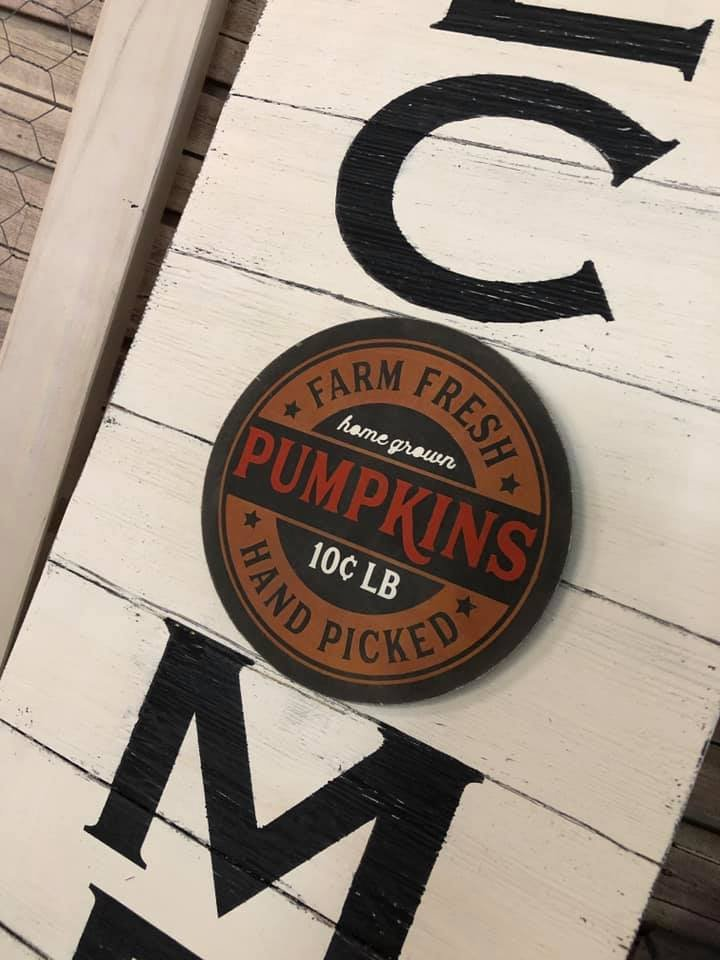 Add On for Welcome Sign - Farm Fresh Pumpkin