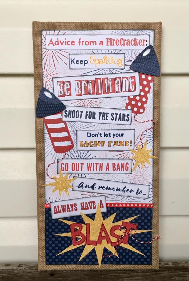 Advice from a Firecracker Canvas Kit