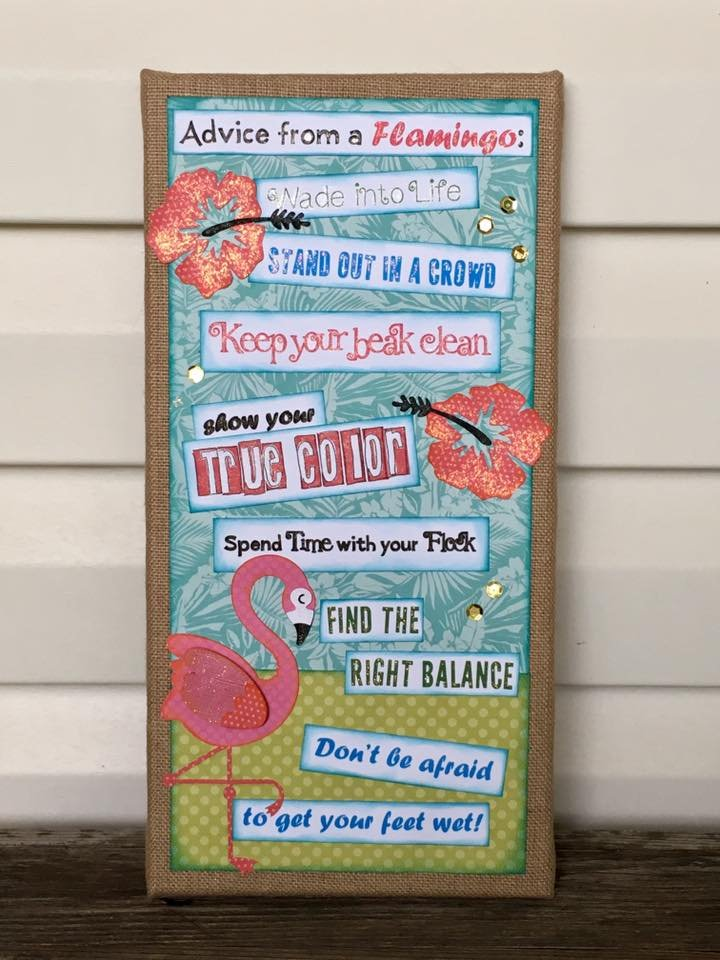 Advice from a Flamingo Canvas Kit
