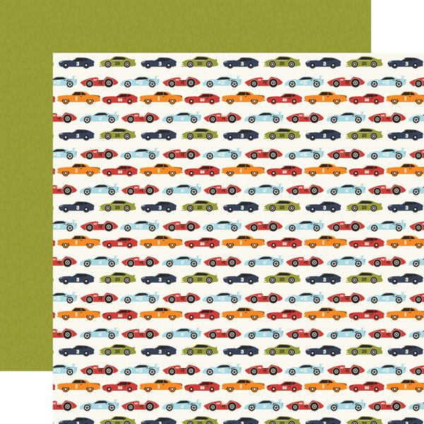 Echo Park All Boy 12x12 Paper - Race Car Lanes