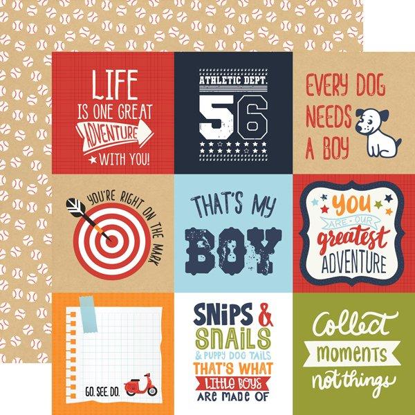 Echo Park All Boy 12x12 Paper - 4X4 Cards