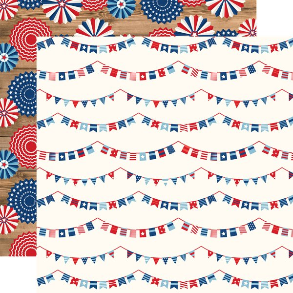 Echo Park AMERICA Independence Banners 12x12 Paper