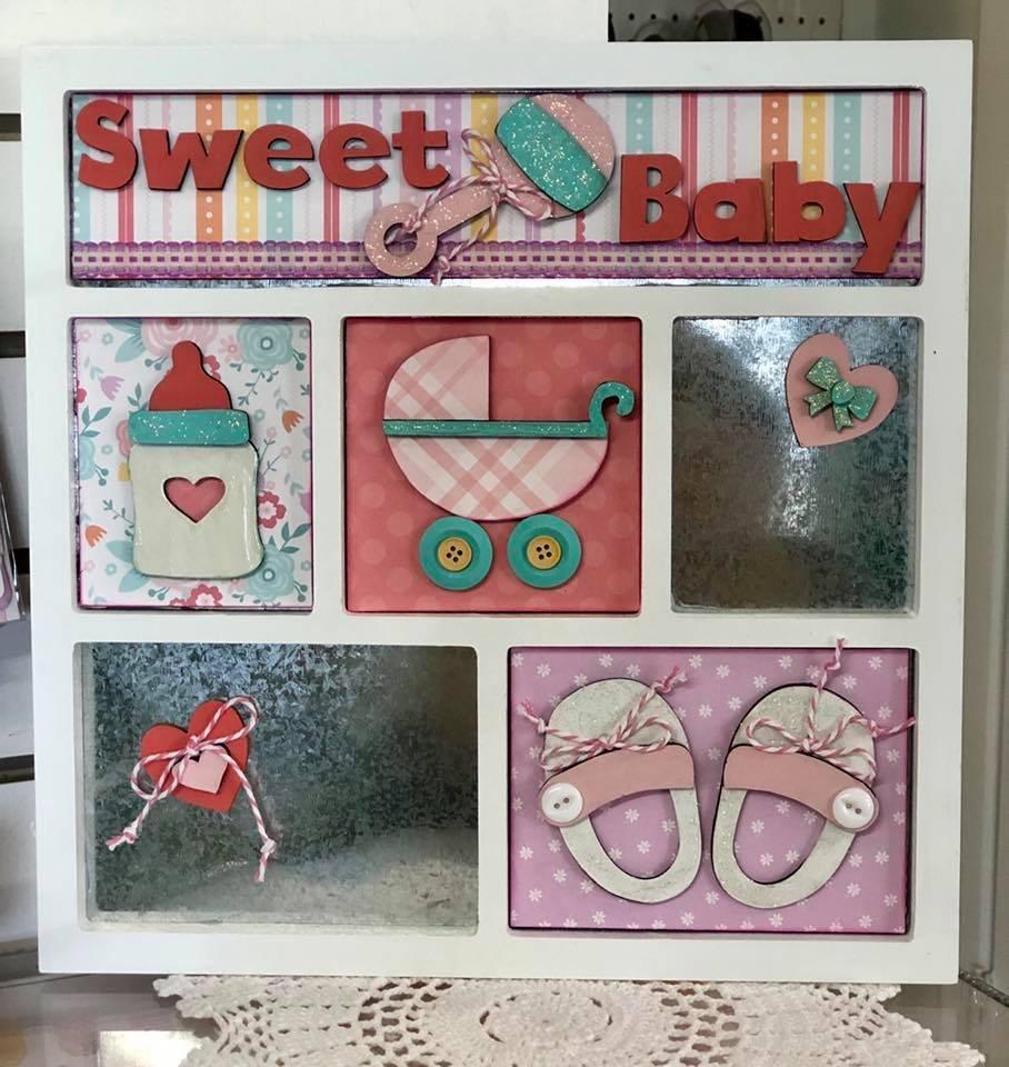 Magnetic Shadowbox Sweet Baby Girl Kit