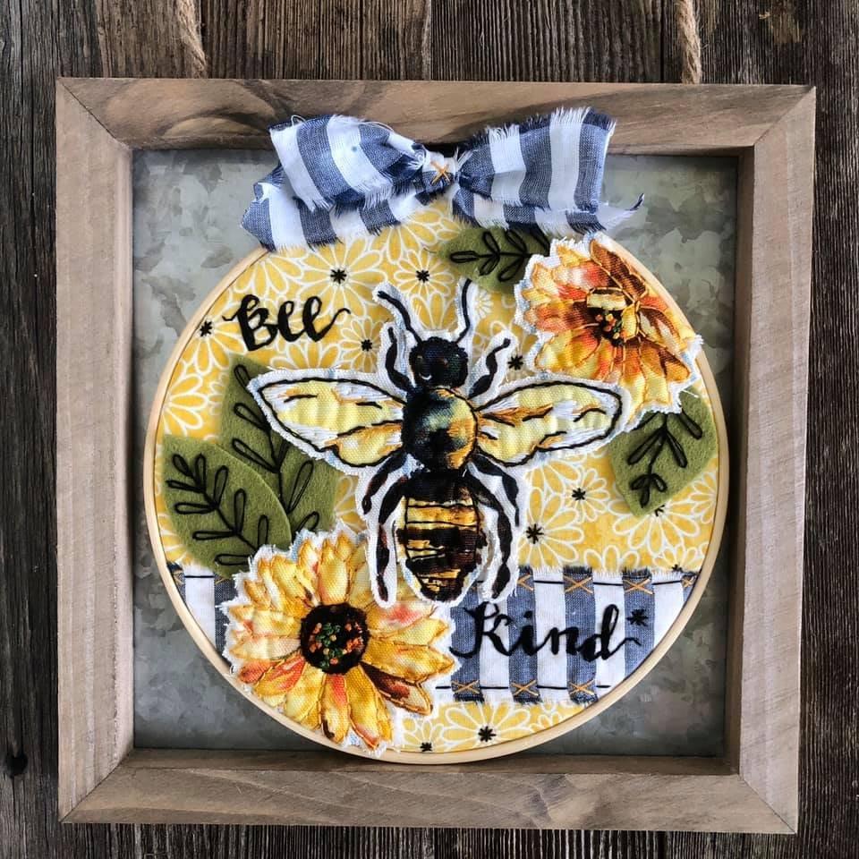 Itch to Stitch Online Workshop: Bee Kind Hoop