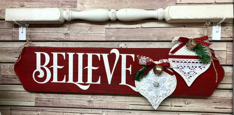Believe Hanging Sign Kit