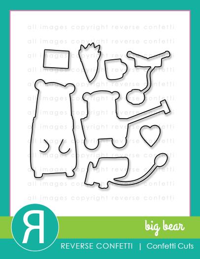Reverse Confetti- Big Bear Confetti Cut