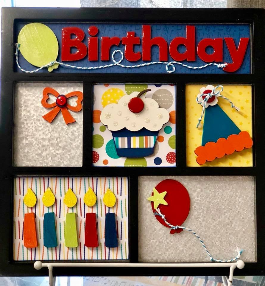 Magnetic Shadowbox Kit - Birthday Boy