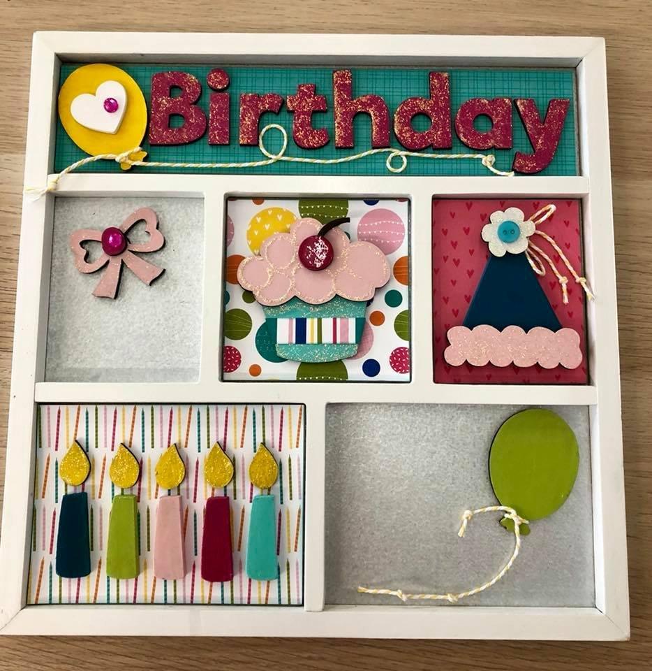 Magnetic Shadowbox Kit - Birthday Girl