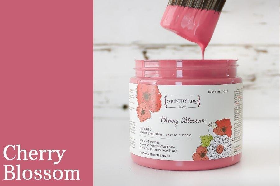 Country Chic Paint- All in One: Cherry Blossom 4oz Paint
