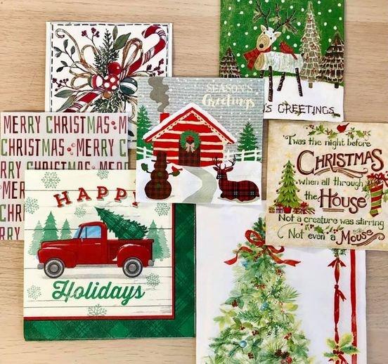 Mini Napkin Bundle - Christmas