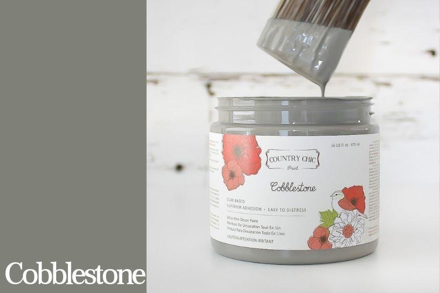 Country Chic Paint- All in One: Cobblestone 16oz Paint