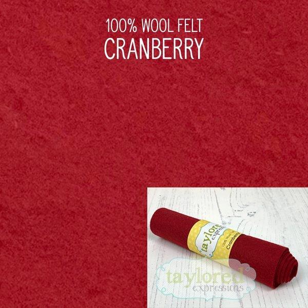 TE Felt- Cranberry