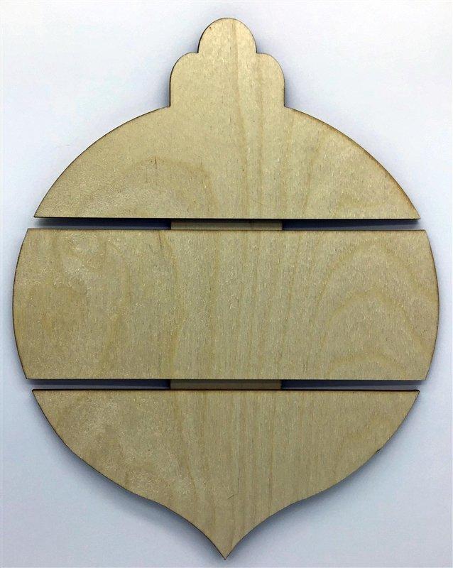 Clear Scraps Wood Shapes Medium Ornament Pallet