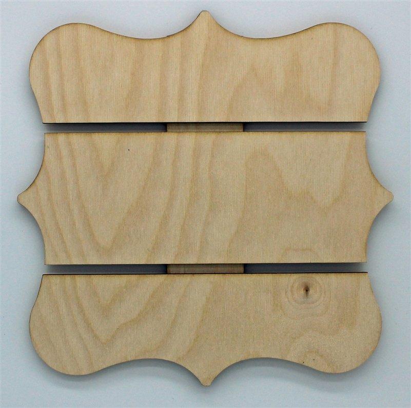 Clear Scraps Wood Shapes Medium Decorative Edge Pallet
