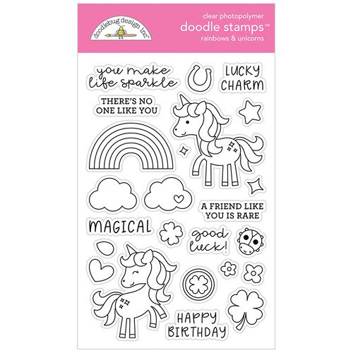 Doodle Stamp Rainbows & Unicorns