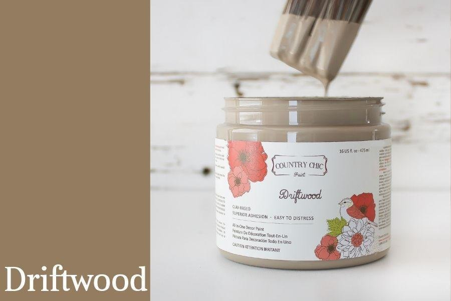Country Chic Paint- All in One: Driftwood 16oz Paint