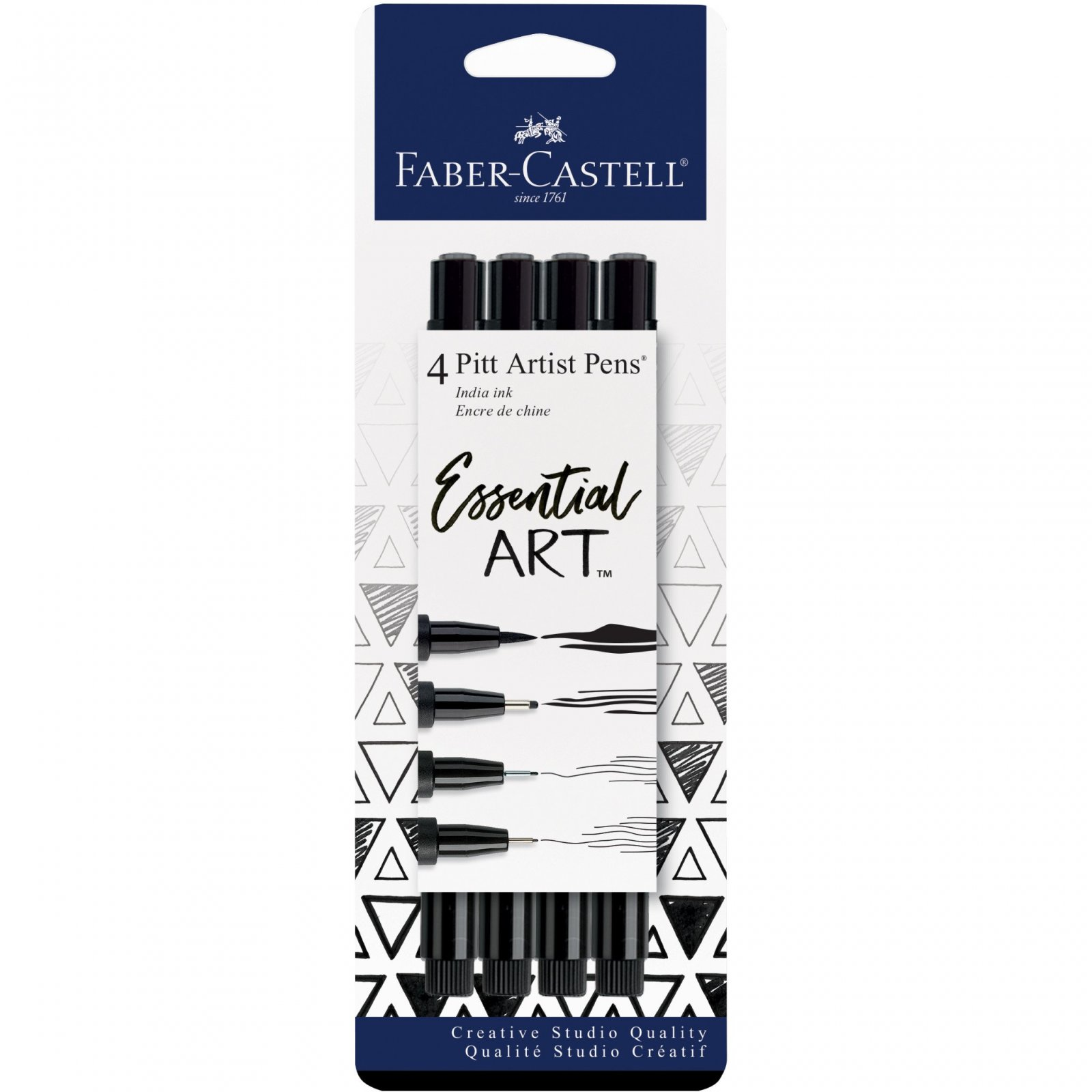 Faber Castell Pitt Pen Essential Artist Set- Black