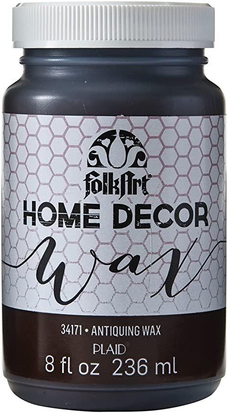 Folk Art Home Decor Liquid Wax Antiquing