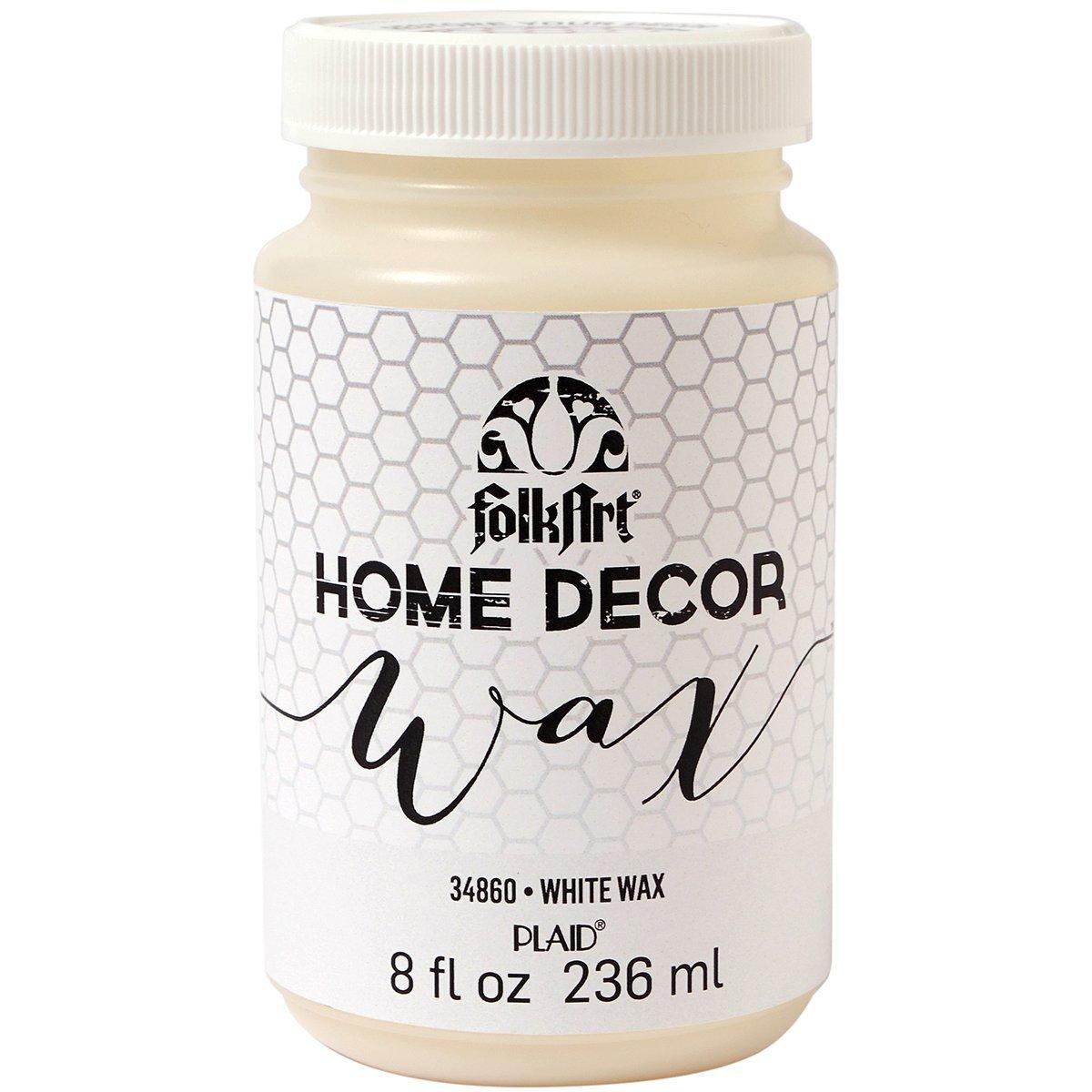 Folk Art Home Decor Liquid Wax - White