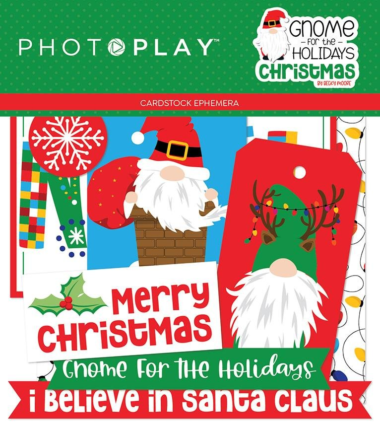 Photo Play Gnome for the Holiday Christmas Ephemera