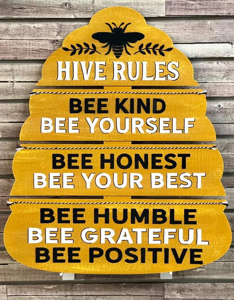 Hive Rules Pallet Sign Kit
