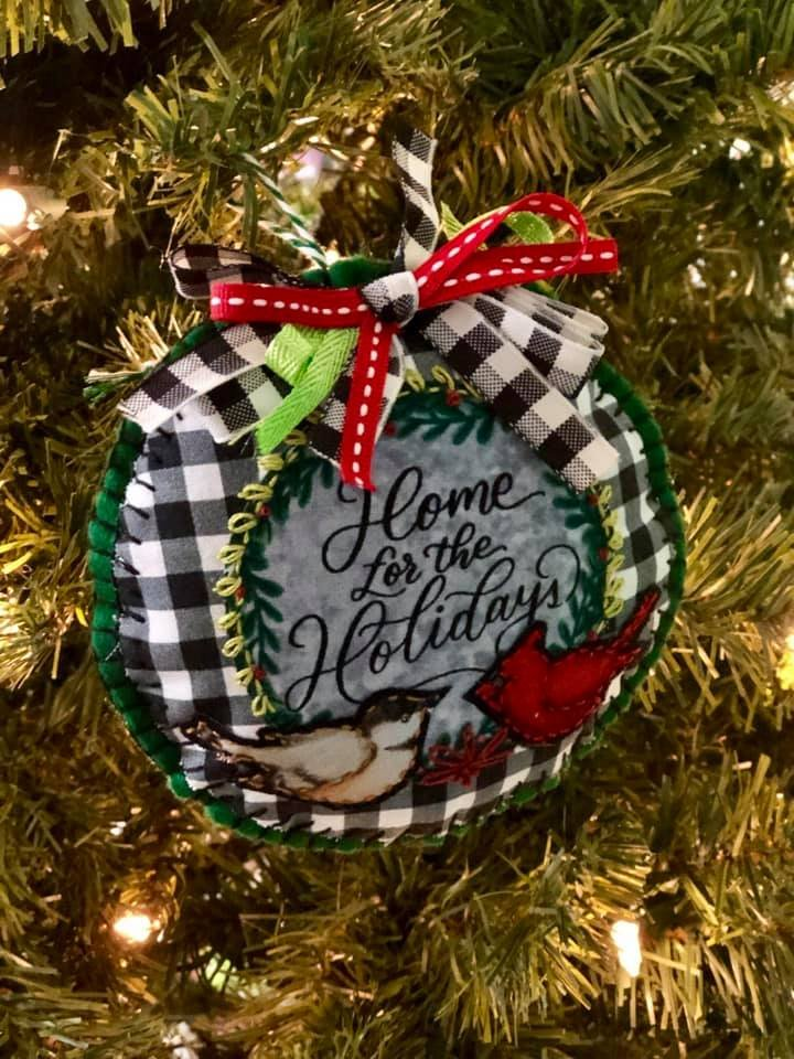 Home for the Holidays Collage Ornament Kit   (set of 2)