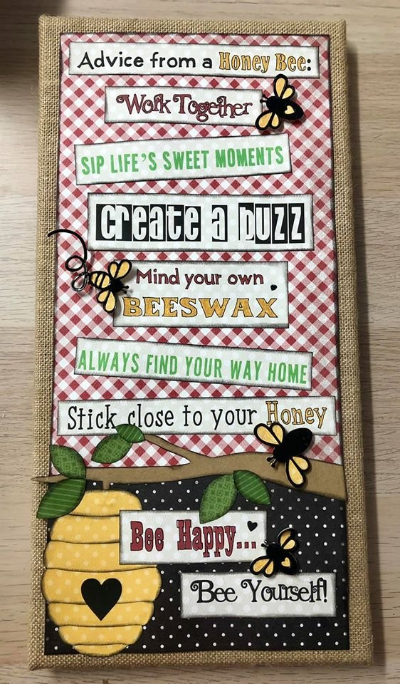 Advice from a Honey Bee Canvas Kit
