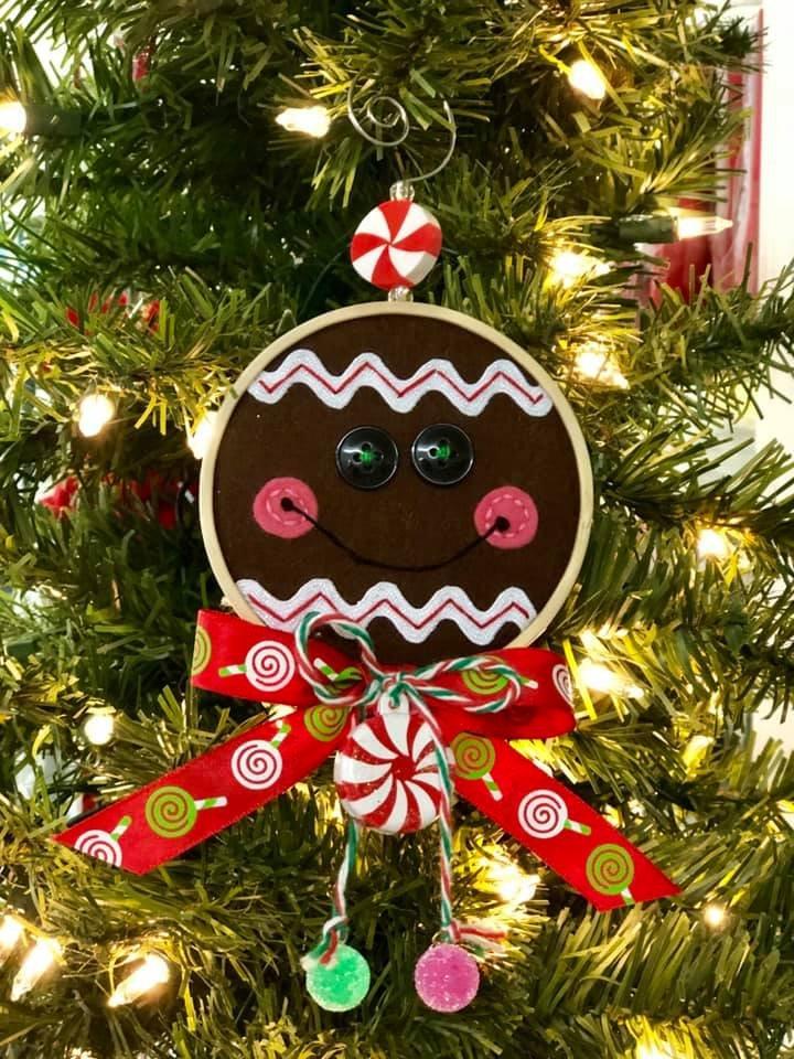 Gingerbread Hoop Ornament Kit