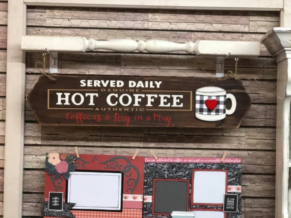 Hot Coffee Sign with Spindle Kit
