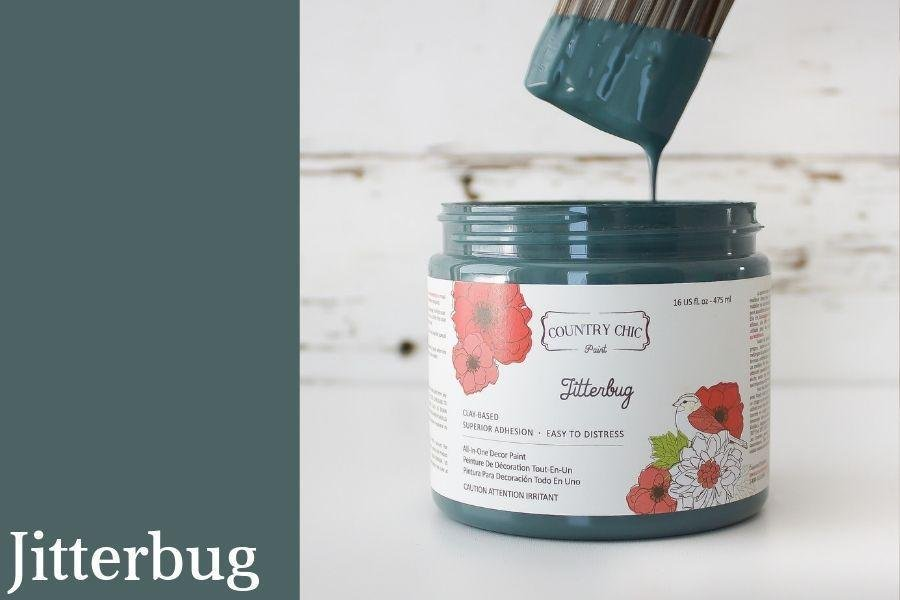 Country Chic Paint- All in One: Jitterbug 16oz Paint