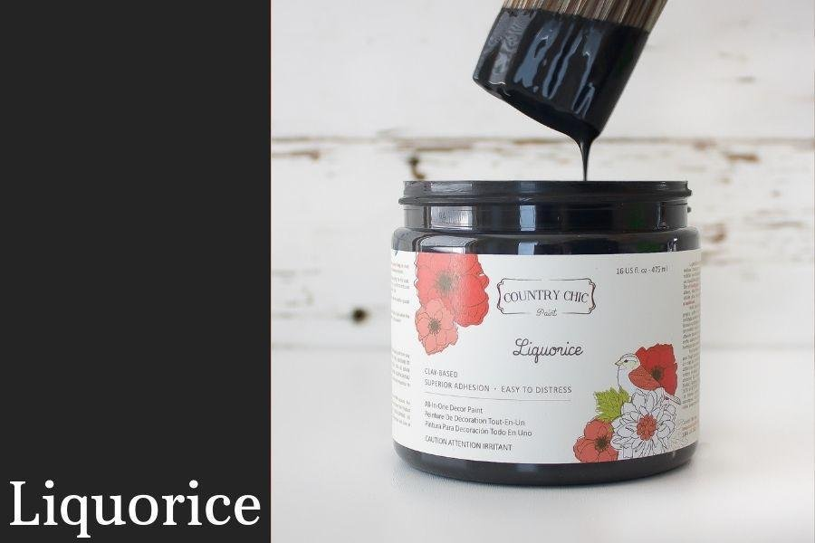 Country Chic Paint- All in One: Licorice 4oz Paint