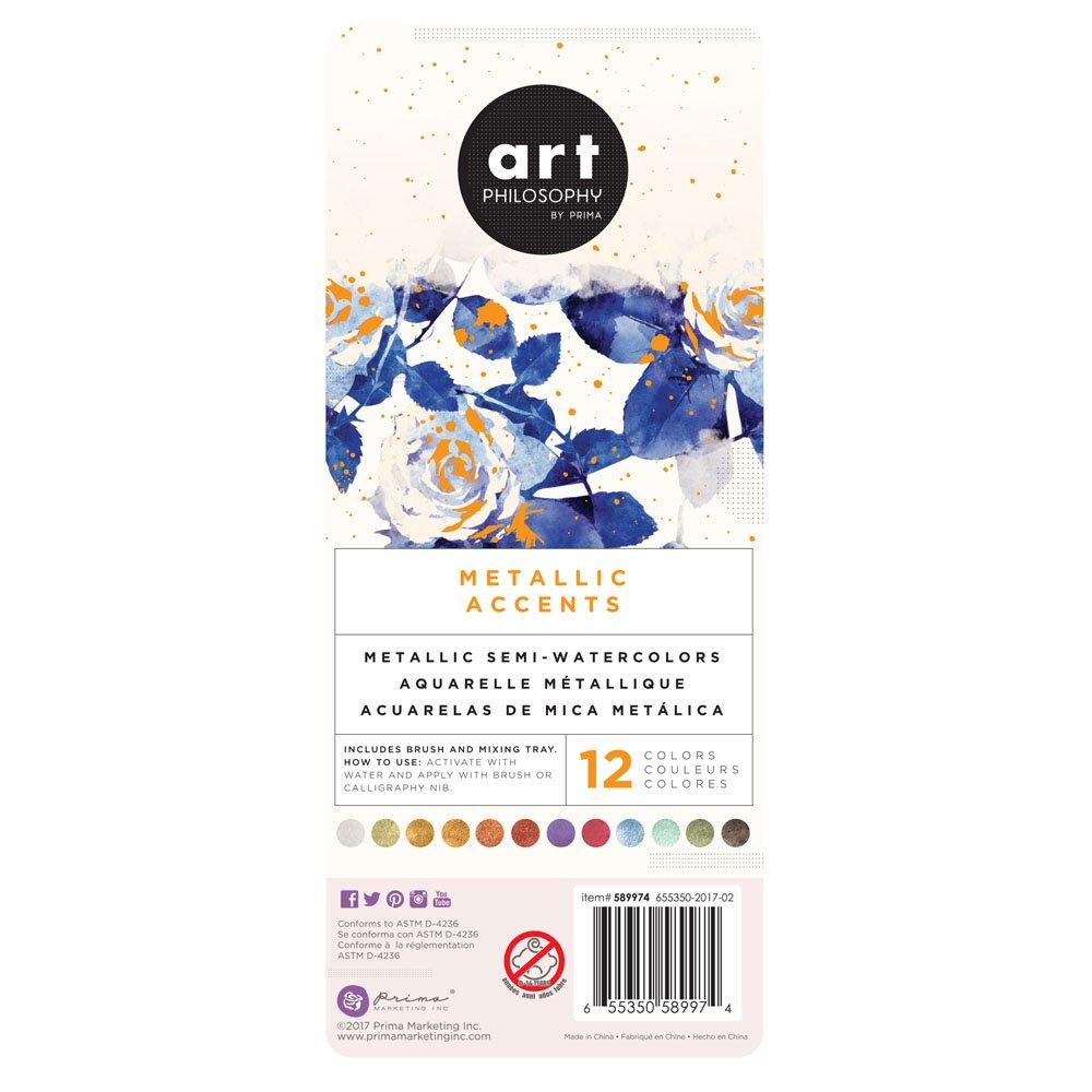 Prima Art Philosophy Metallic Accents Watercolors