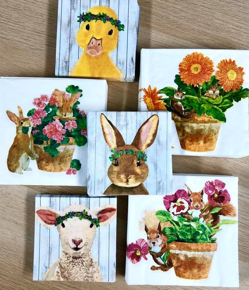Exclusive Napkins for The Napkin Club Members - April Celebrate Spring Release