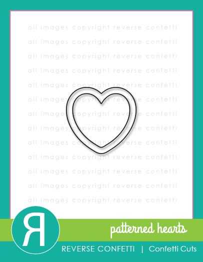 Reverse Confetti Patterned Hearts Confetti Cut