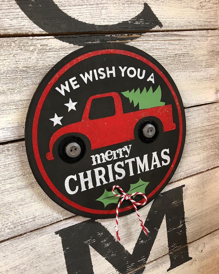 Add On for Welcome Sign - Christmas Truck