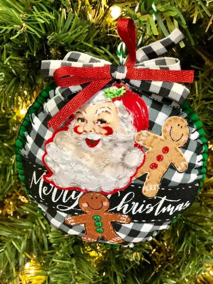 Santa Collage Ornament Kit   (set of 2)