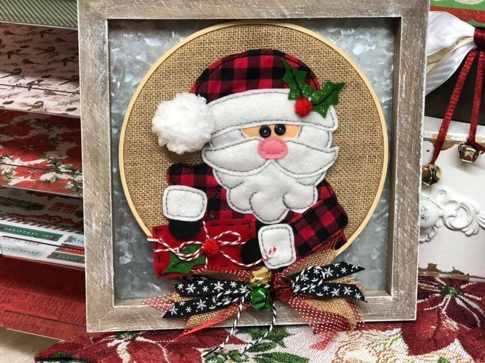 Itch to Stitch Online Workshop: Holly Jolly Santa Hoop