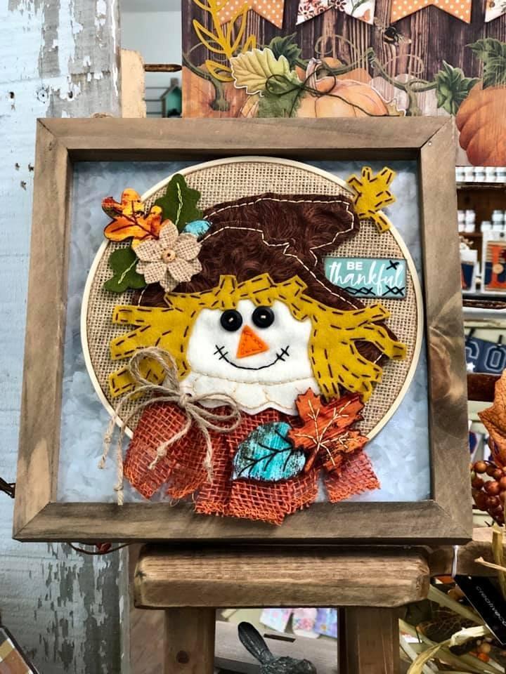 Itch to Stitch Online Workshop: Scarecrow Hoop