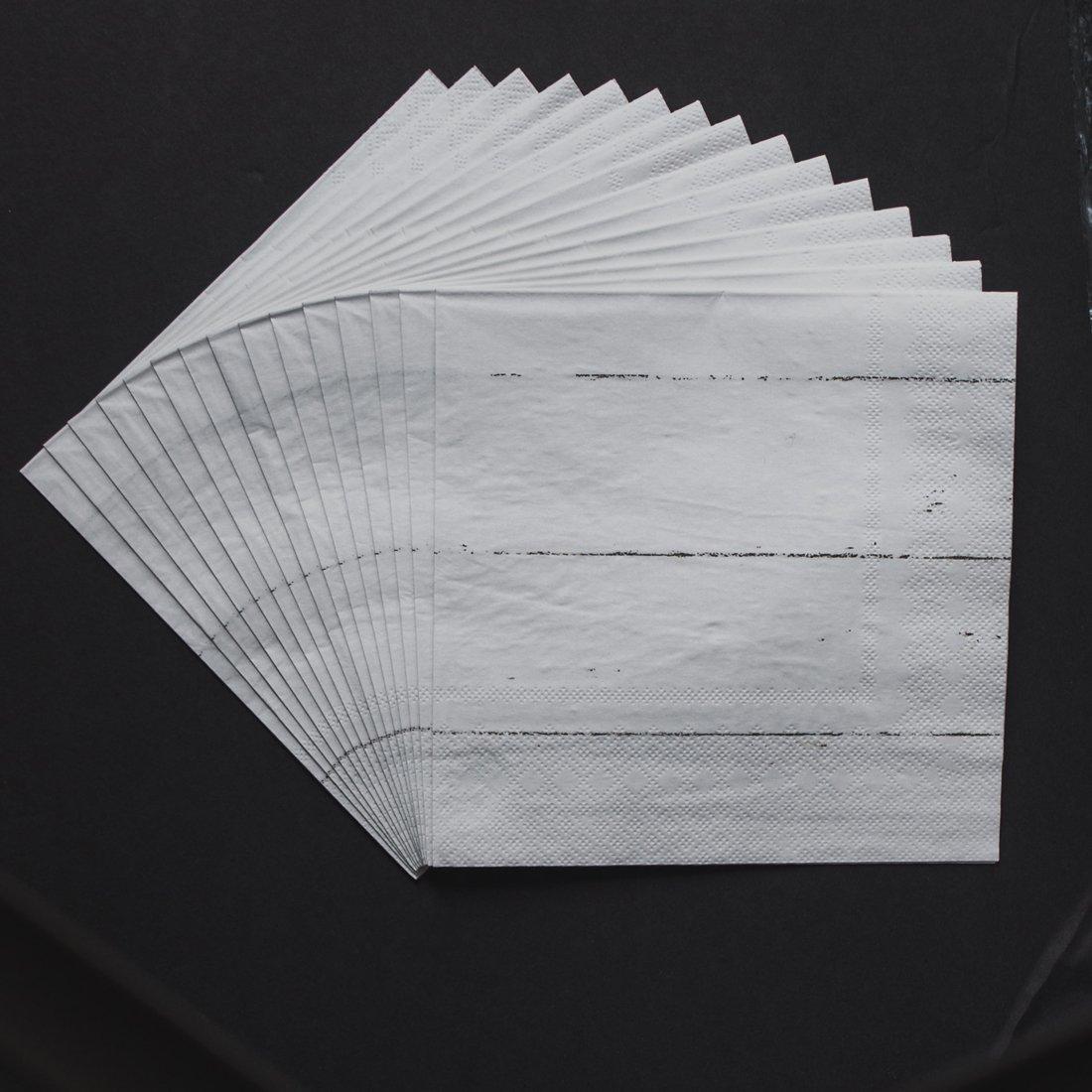 Shiplap Napkins (White) Set of 8