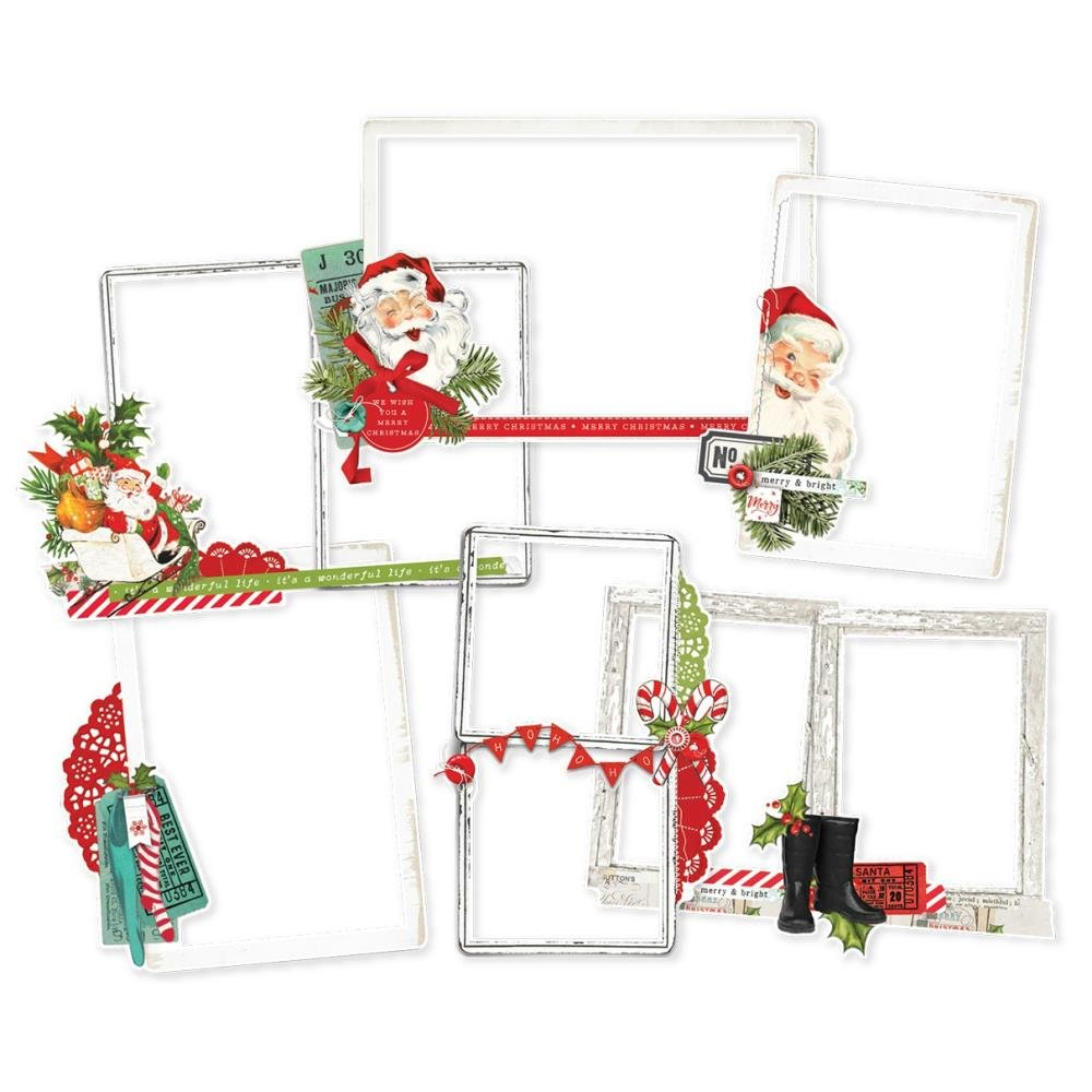 Simple Stories Simple Vintage North Pole Layered Frames