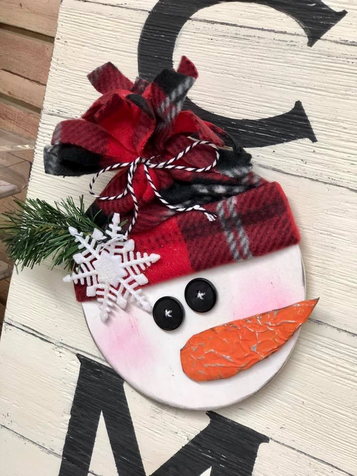 Add On Kit for Welcome Sign - Snowman
