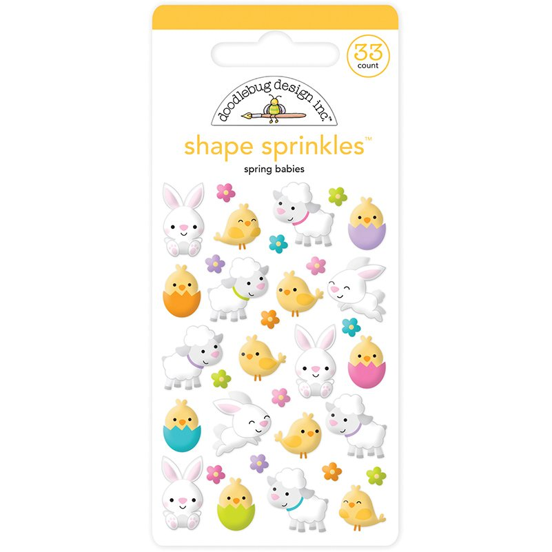 Doodlebug Shape Sprinkles- Bunnies