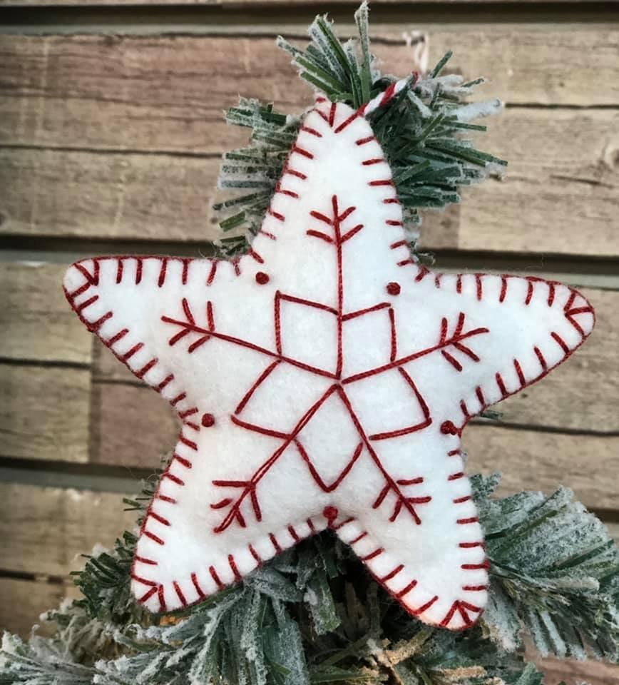 Felt Star Ornament Kit   (set of 2)