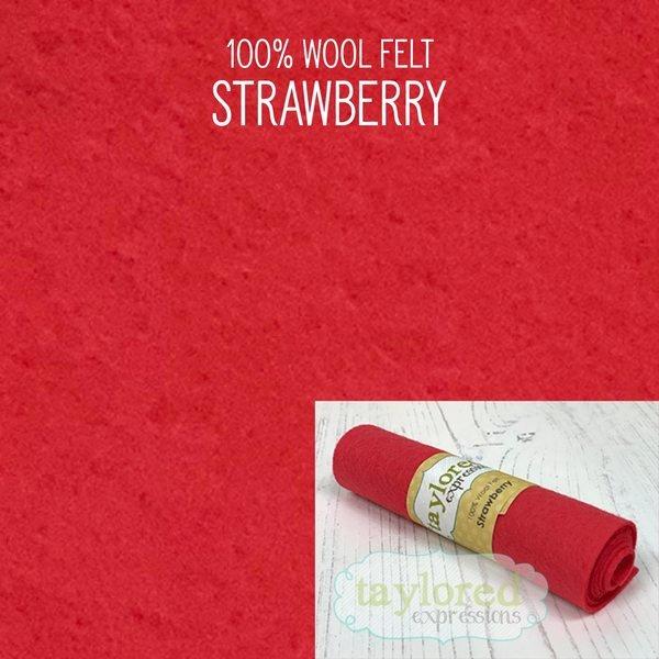 TE Felt- Strawberry