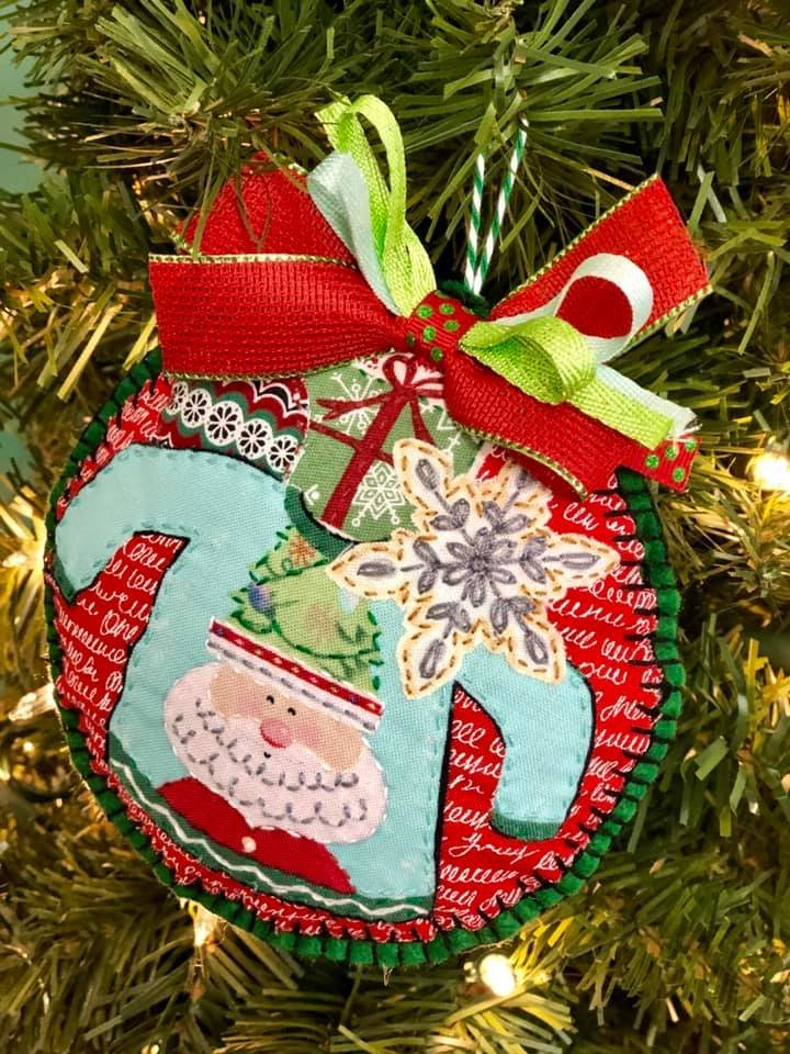 Christmas Sweater Collage Ornament Kit   (set of 2)
