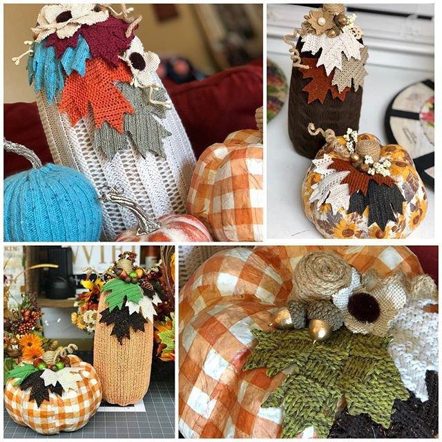 Sweater Pumpkins & Leaves Online Workshop