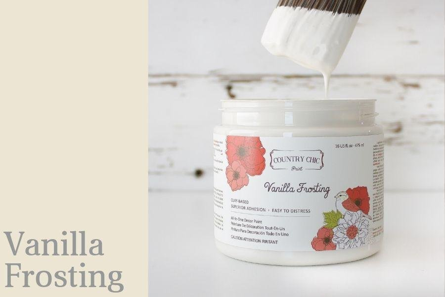 Country Chic Paint- All in One: Vanilla Frosting 4oz Paint